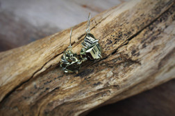 Raw Pyrite Earrings