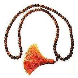Tigers Eye Mala Bead Necklace