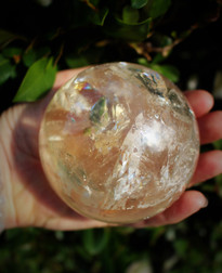Large Natural Citrine Sphere