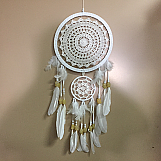 Dream Catcher - 25cm White with Yellow