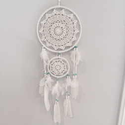Dream Catcher - 2 ring Aqua Beads