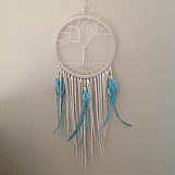 Dream Catcher - 20cm with Blue Beads