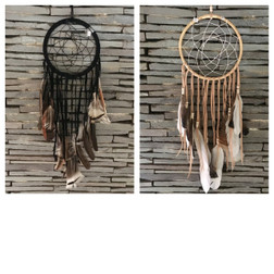 Dreamcatcher with Rattan and Turkey feathers