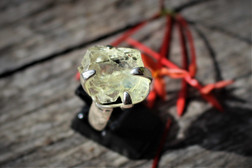 Hiddenite ring size 8
