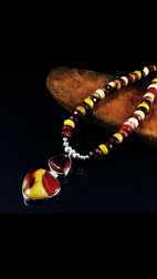 Mookaite beads with faceted Carnelian