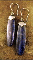 Blue Kyanite earrings (Brazil)