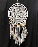 30cm White Shell Dream Catcher