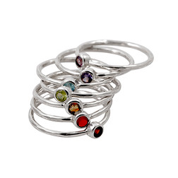 Stackable Chakra Ring Set size 8