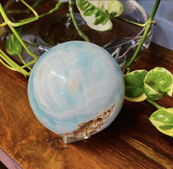 Caribbean Blue Calcite Sphere