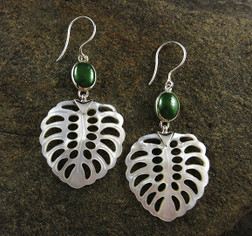 Canadian Jade and Mother of Pearl Earrings