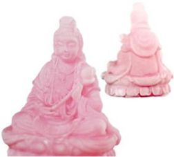 Quan Yin Statue Frosted Pink