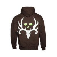 Bone Collector Signature  Hoodie Chocolate