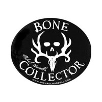 Decal Black Deer Skull Logo Oval