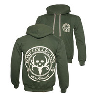 Bone Collector Creme Logo Circle Hoodie