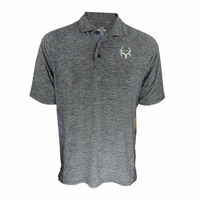 Men's Heathered Realtree Active Polo Gray