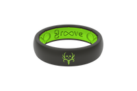 Bone Collector | Groove Life Ring | Thin Midnight Black/Green
