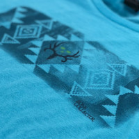 Aztec Print Ladies Tee | Pool Blue - COMING SOON!
