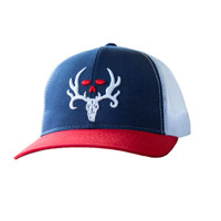 Red, White, Blue & Bone Collector Hat