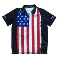 Bone Collector Patriotic - Polo Zipper Short Sleeve Jersey