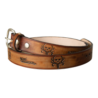 Bone Collector Custom Adult Leather Belt