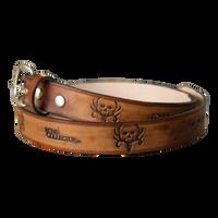 Bone Collector Custom Adult Leather Belt
