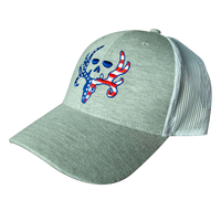 Red, White & Blue Skull Mesh Back Cap