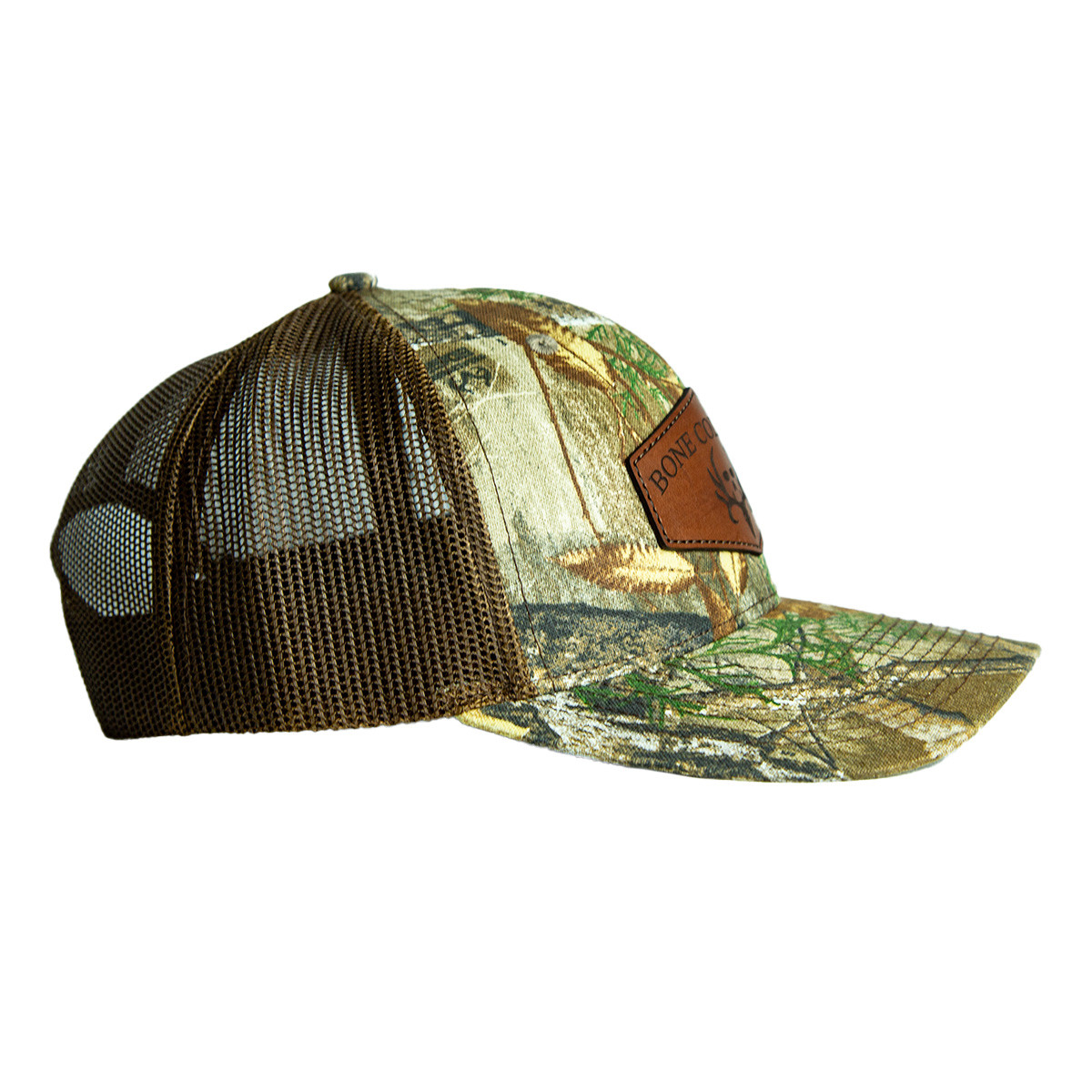 bone collector edge snapback leather hat right