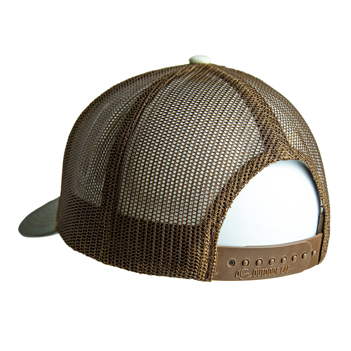 Stone Tri Color Circle Patch Hat back