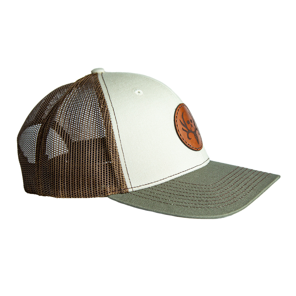 Stone Tri Color Circle Patch Hat right 2