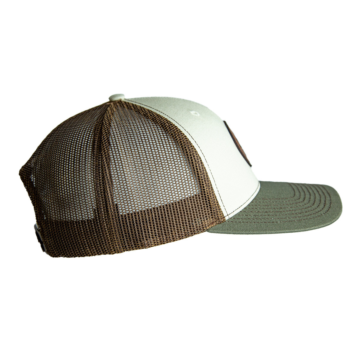 Stone Tri Color Circle Patch Hat right