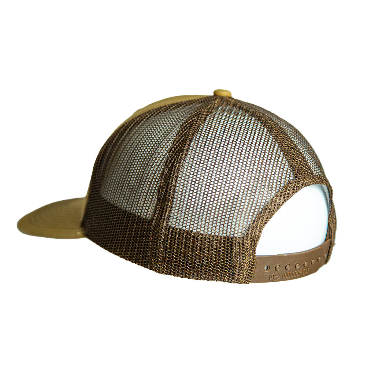 Buckskin Leather Patch Snapback Hat back 2