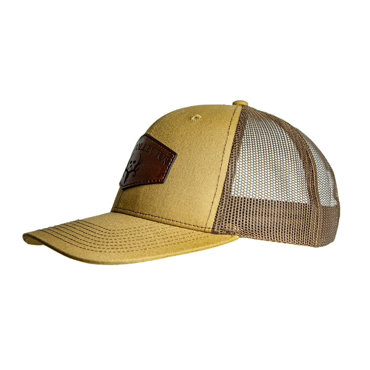 Buckskin Leather Patch Snapback Hat left