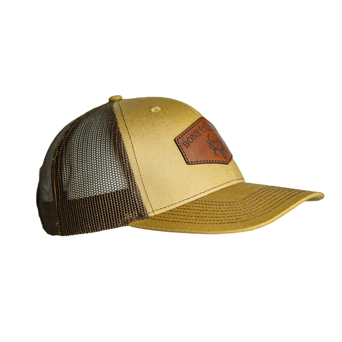 Buckskin Leather Patch Snapback Hat right