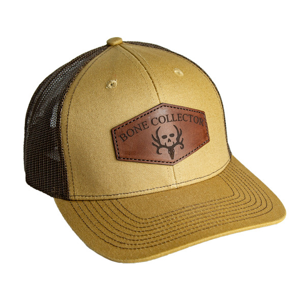 Buckskin Leather Patch Snapback Hat front