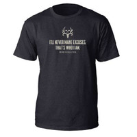 Bone Collector Never Make Excuses Tee Front