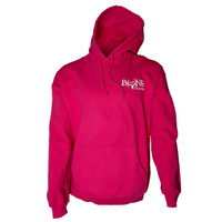 Ladies Skull and Bones Pink Bone Collector Breast Cancer Hoodie front