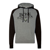 bone collector Stencil Hoodie Gunmetal Black