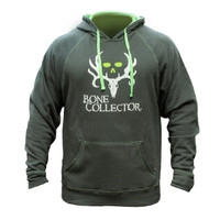 Bone Collector Neon Stich BC Hoodie Grey-Green