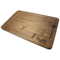 Bone Collector Cooking Solid Walnut Cutting Board Angled