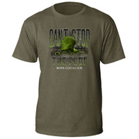 bone collector cant stop the flop cstf tee green flopped graphic front