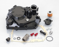 KITACO BLACK CLUTCH COVER KIT INCLUDES EVERYTHING IN PHOTO.