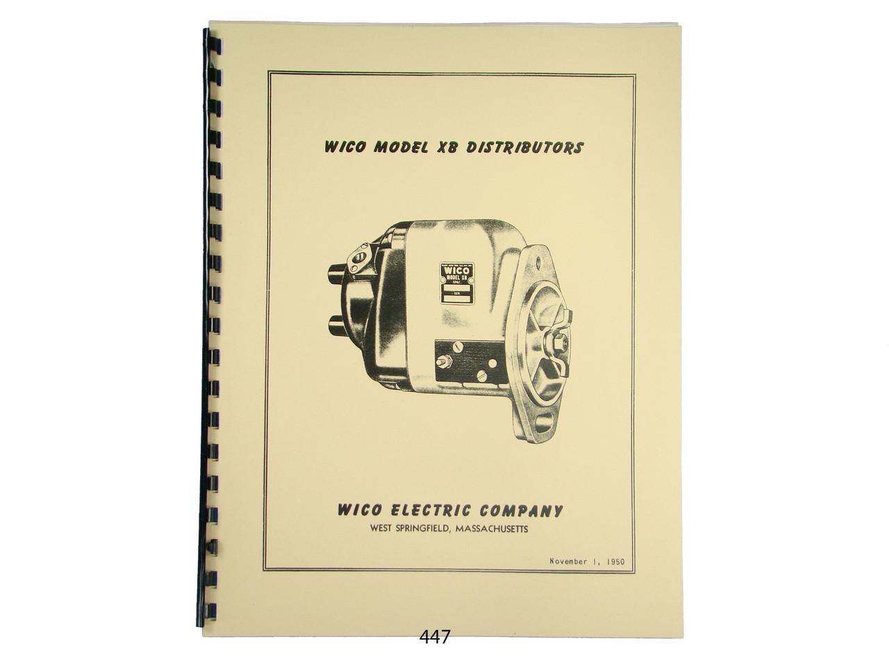 Wico Service & Parts Manual for XB Distributor Magneto John Deere, Oliver  *447