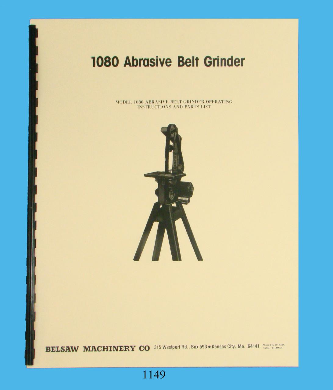 Foley Belsaw  Model 311 Belt Sander Grinder Owners Manual *1101