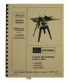 Sears Craftsman 113.242700, 113.242720  9 Inch Table Saw Op & Parts Manual #1506