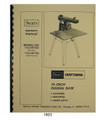 Sears Craftsman 113.197752 & 113.197702 10-inch Radial Saw Owners Manual  #1503