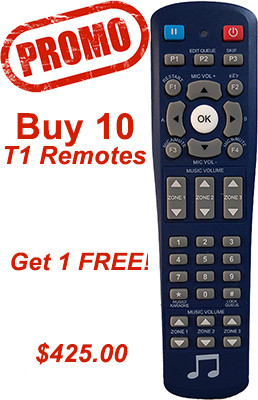 10 Pack Promo buy 10 get 1 free of the T1 remotes