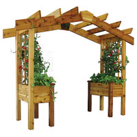 Gronomics-Pergola-Planter-3x10x8'-(Ships-in-4-Boxes)