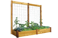 "Gronomics-Raised-Garden-Bed-34x95x13-with-95x80""H-Trellis-Kit"