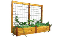 "Gronomics-Raised-Garden-Bed-34x95x19-with-95x80""H-Trellis-Kit"