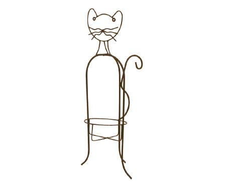 Whimsical-Metal-Cat-Planter-Holder
